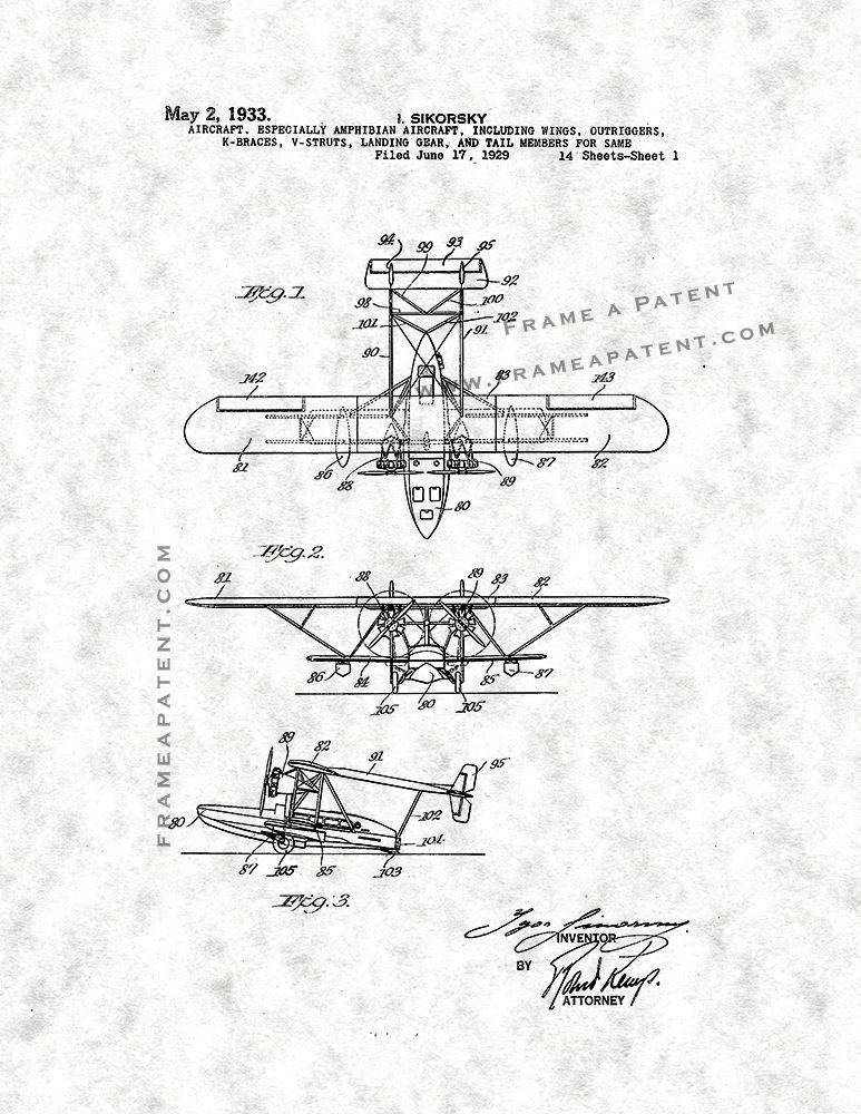 Aircraft Patent Print