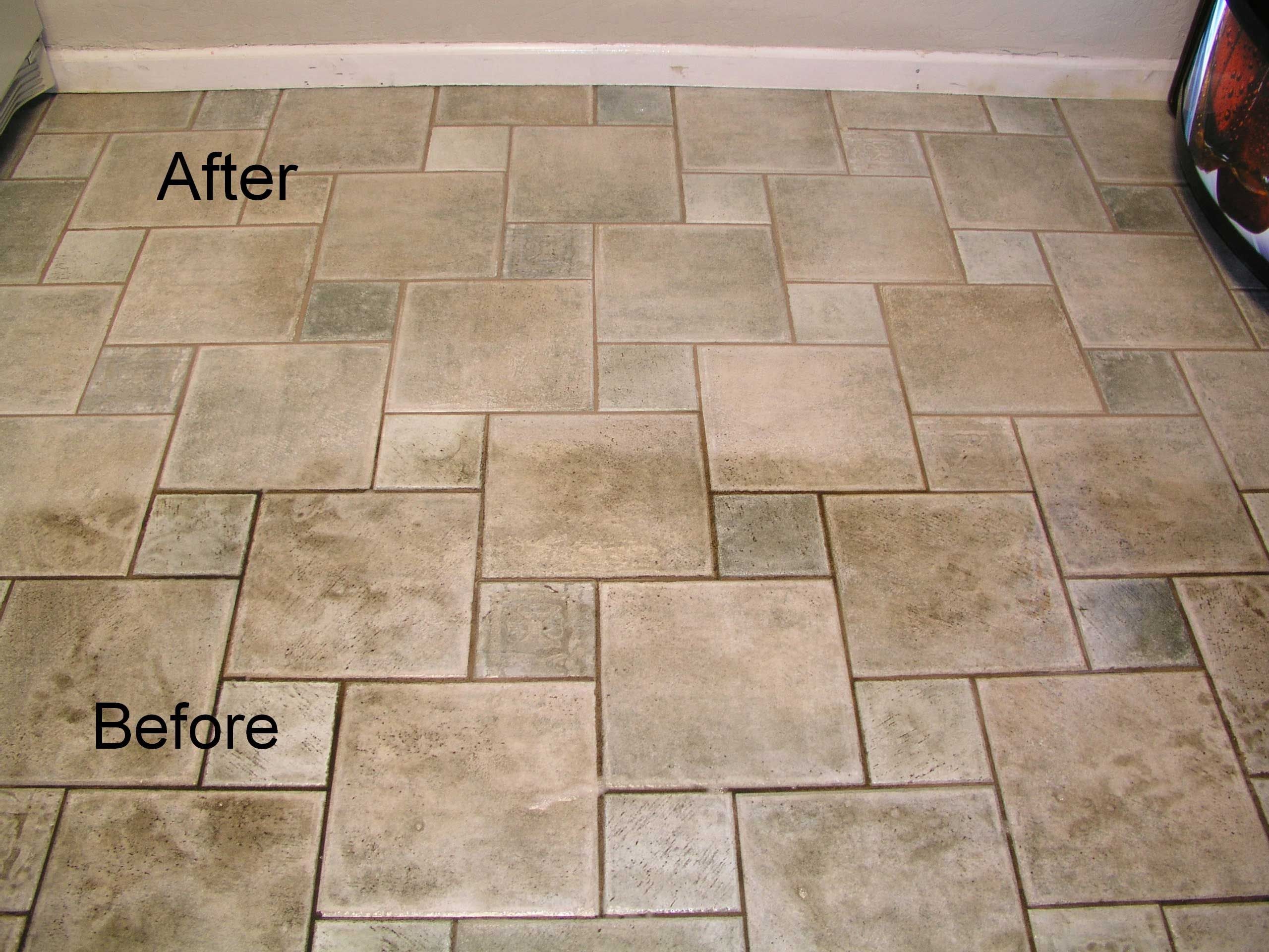 See the difference between dirty and clean tile So stop living with dirty floors tilecleaning