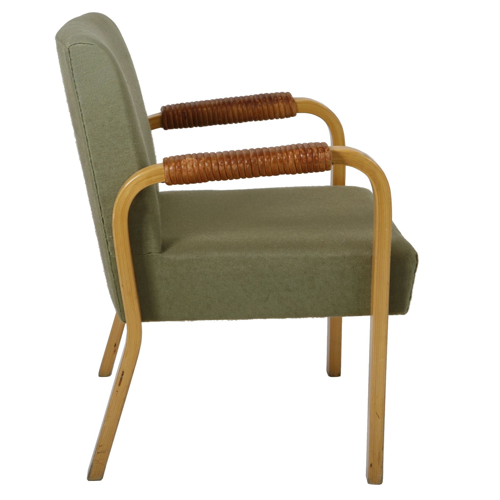 Alvar aalto bent birch and leather armchair for artek for Alvar aalto muebles