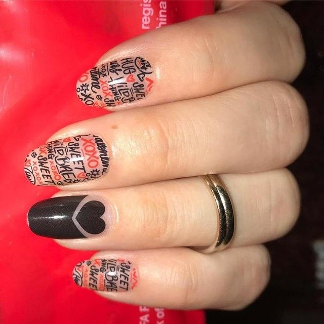 Beautiful #valentinesday manicure! It\'s not too late yet to get some ...