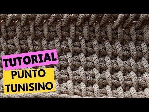 Uncinetto Tunisino Punto Quadretti Tutorial Tunisian Crochet Square