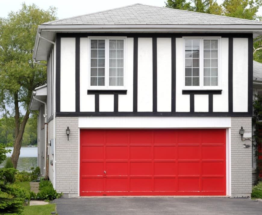 Elegant 54 Cool Garage Door Design Ideas (PICTURES) | Garage Doors, Red Houses And  Door Design
