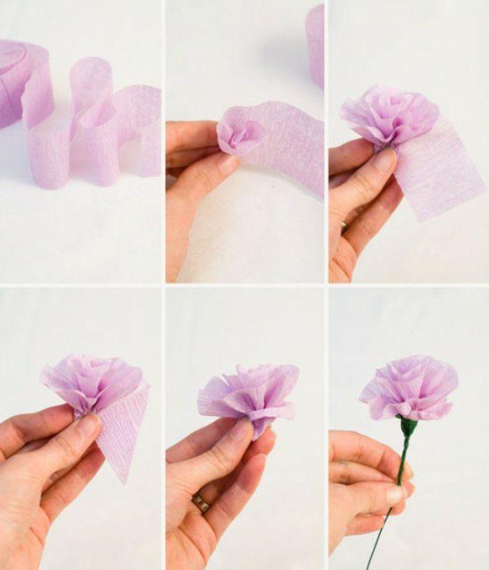 Comment faire une fleur en papier crepon fleur mariage pinterest fleurs - Comment faire une fleur ...