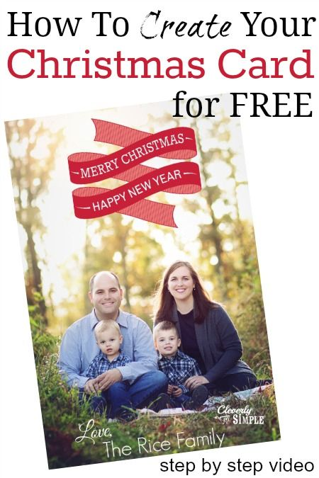 How to Create Your Christmas Card for Free (Step By Step Video Using