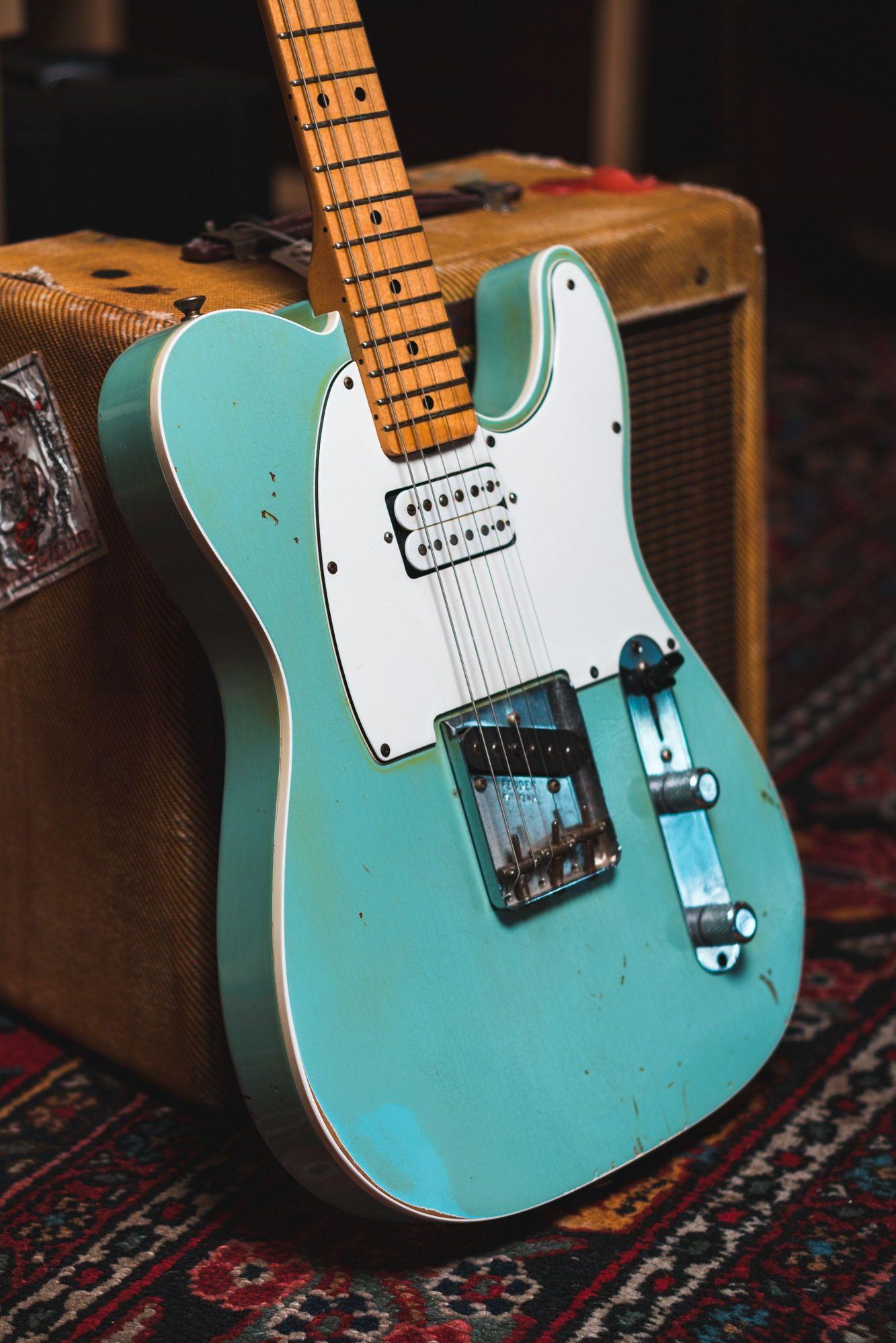 Fender Custom Shop 1963 Telecaster Relic Surf Daphne Blue 2008 S459 Guitar On Pinterest Steampunk And Epiphone
