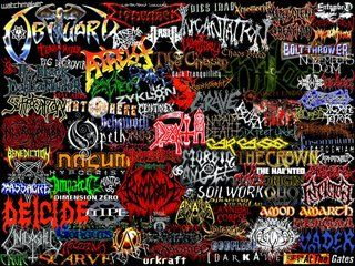 Doom/Sludge/Gothic Doom Metal Band Logo Collage Photo by