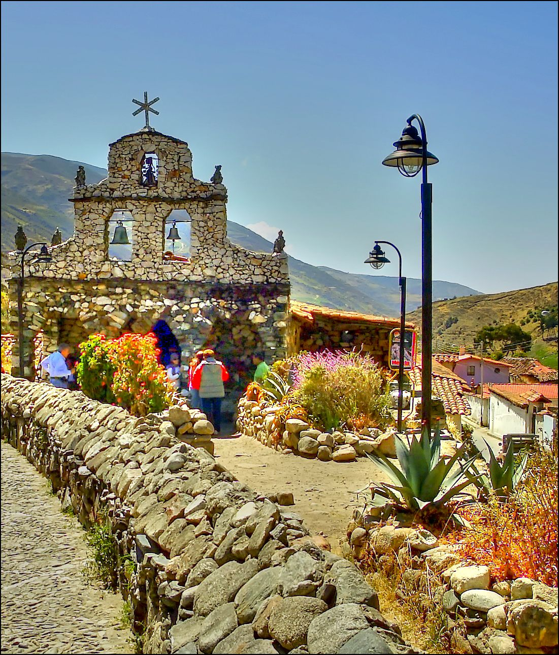 Iglesia de piedra, construida piedra a piedra por el Sr. Juan Felix, quien nació en 1900, esta ubicada en San Rafael de Mucuchies, Merida, Venezuela.