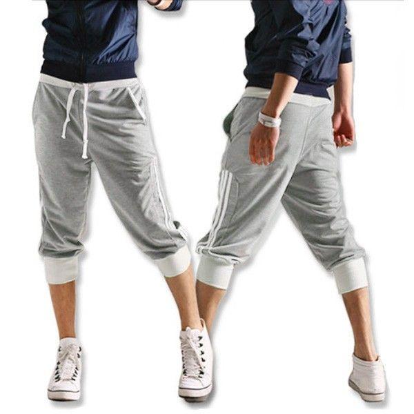 $12.98 / Mens Sweat Capri Hip-hop Dance Jogging Short Pants via ...