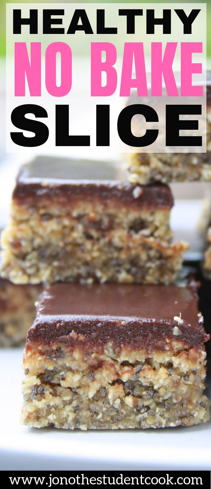 Healthy No Bake Slice #cleaneating
