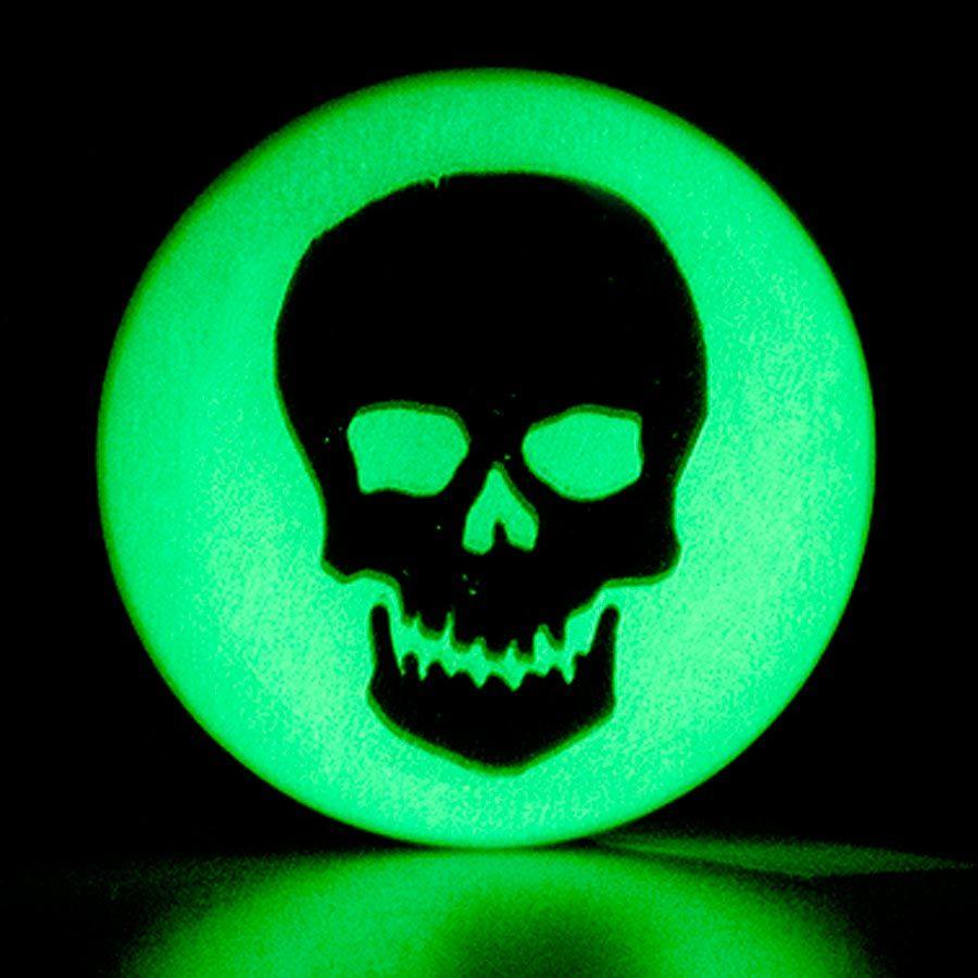 Acrylic glow skull ear plug 6 24mm white bananas flesh tunnel acrylic glow skull ear plug 6 24mm white buycottarizona