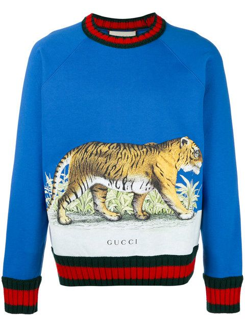 50d01cb75 Shop Gucci Tiger print sweater. | Style Pile in 2019 | Gucci outfits ...