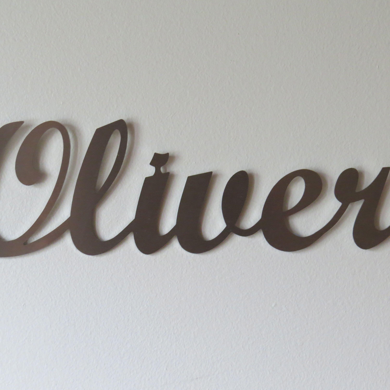 "Steel Wall Art wall art - personalised name 'oliver"" | metal art | pinterest | walls"