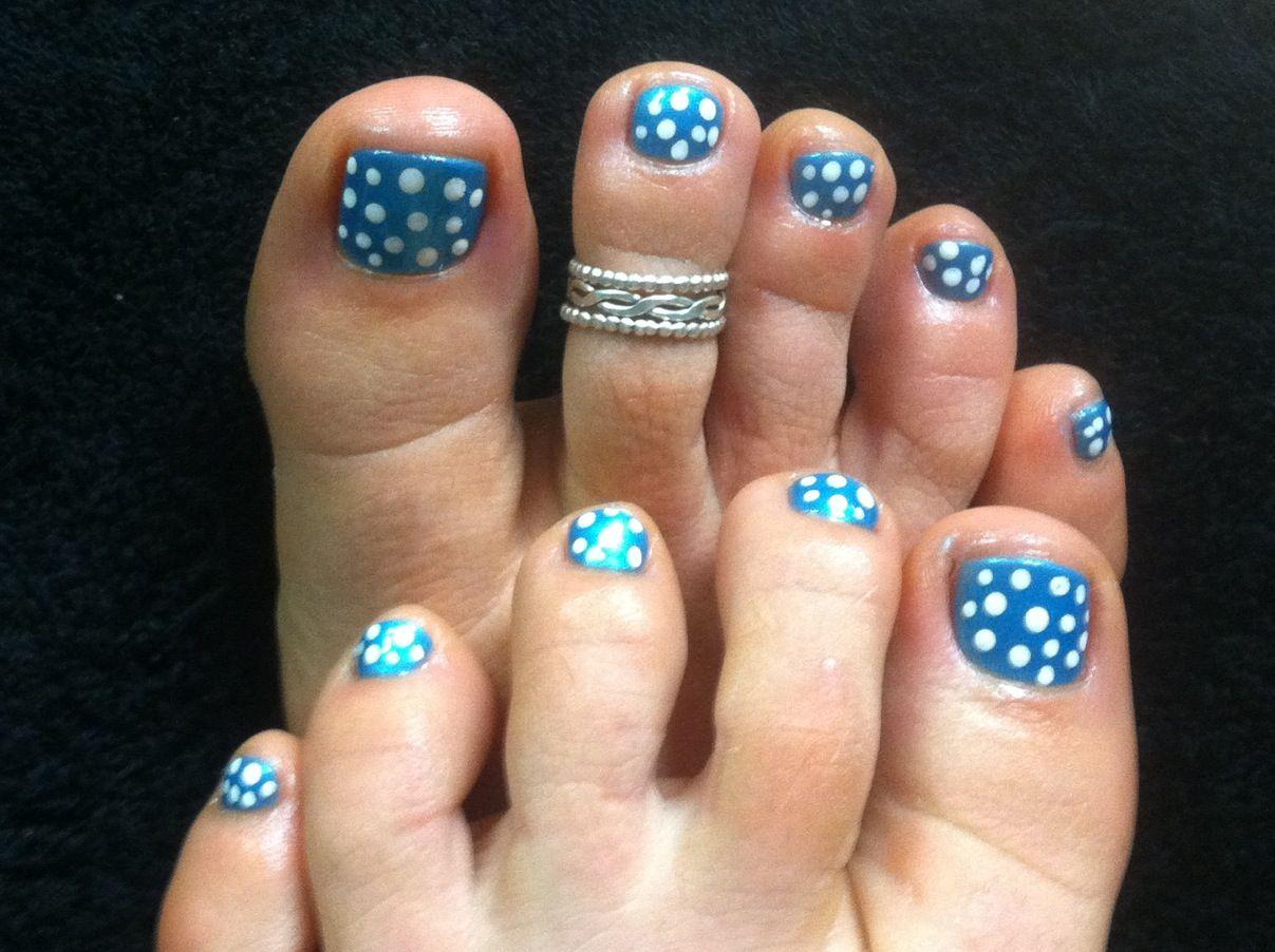 Polka Dot Pedi Nail Art By Niki Tunnessen At B Beautiful Salon In Leominster Ma Nail Art Nails Summer Nails