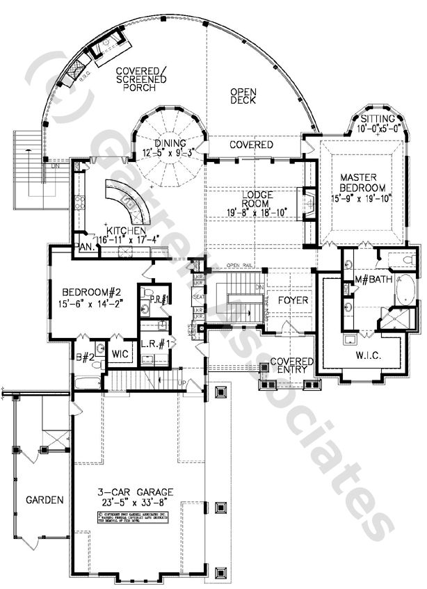 One Story Courtyard Home Plans Lakewood Lodge Plan 07192 Courtyard House Plans House Plans Courtyard House Plans How To Plan