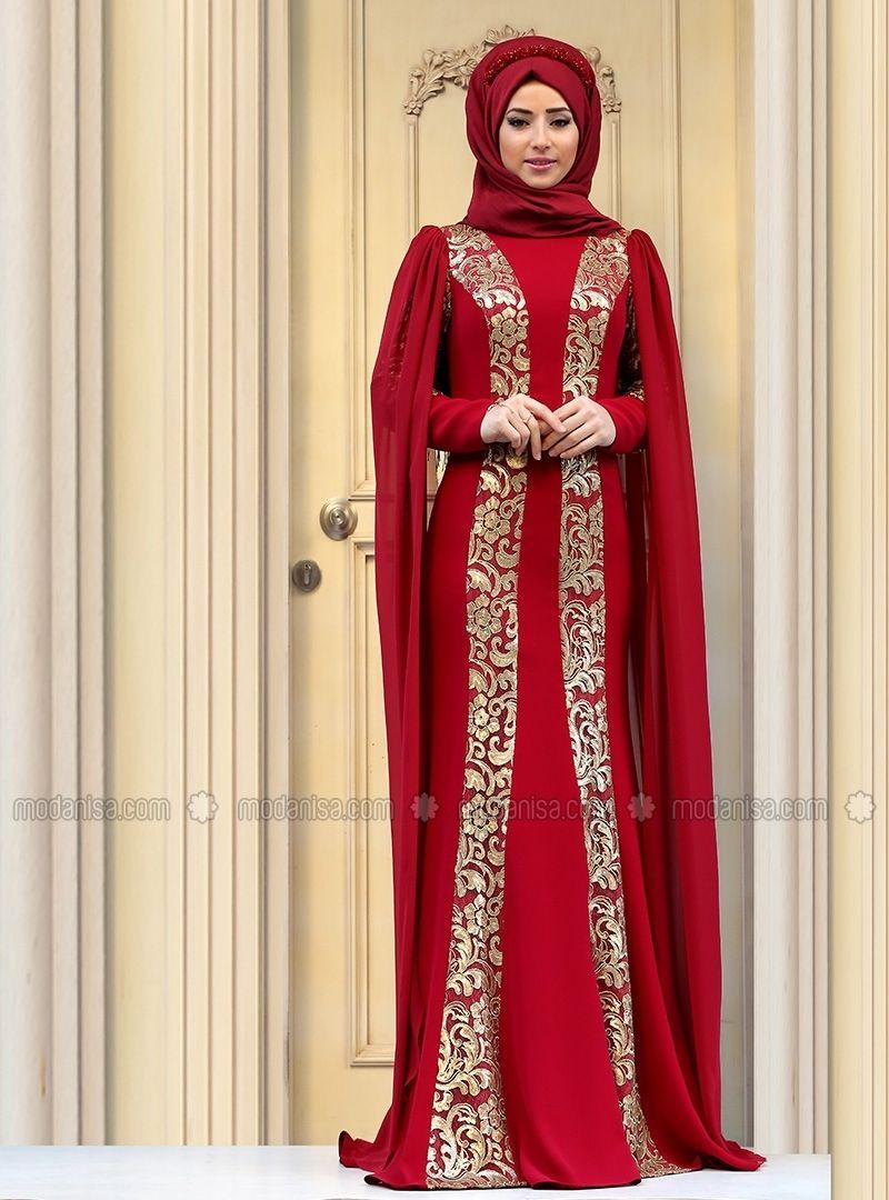 Rabia evening dress maroon zehrace kleider pinterest