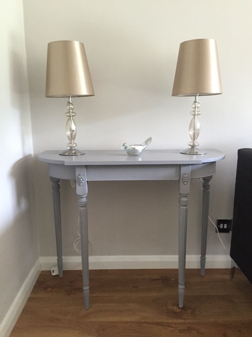 My first upcycled vintage mahogany console table using authentico my first upcycled vintage mahogany console table using authentico chalk paint geotapseo Gallery