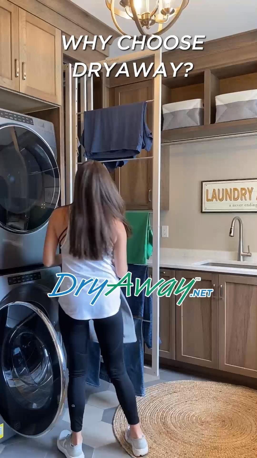 Eco-Friendly Built In Laundry Room Clothes Drying Racks