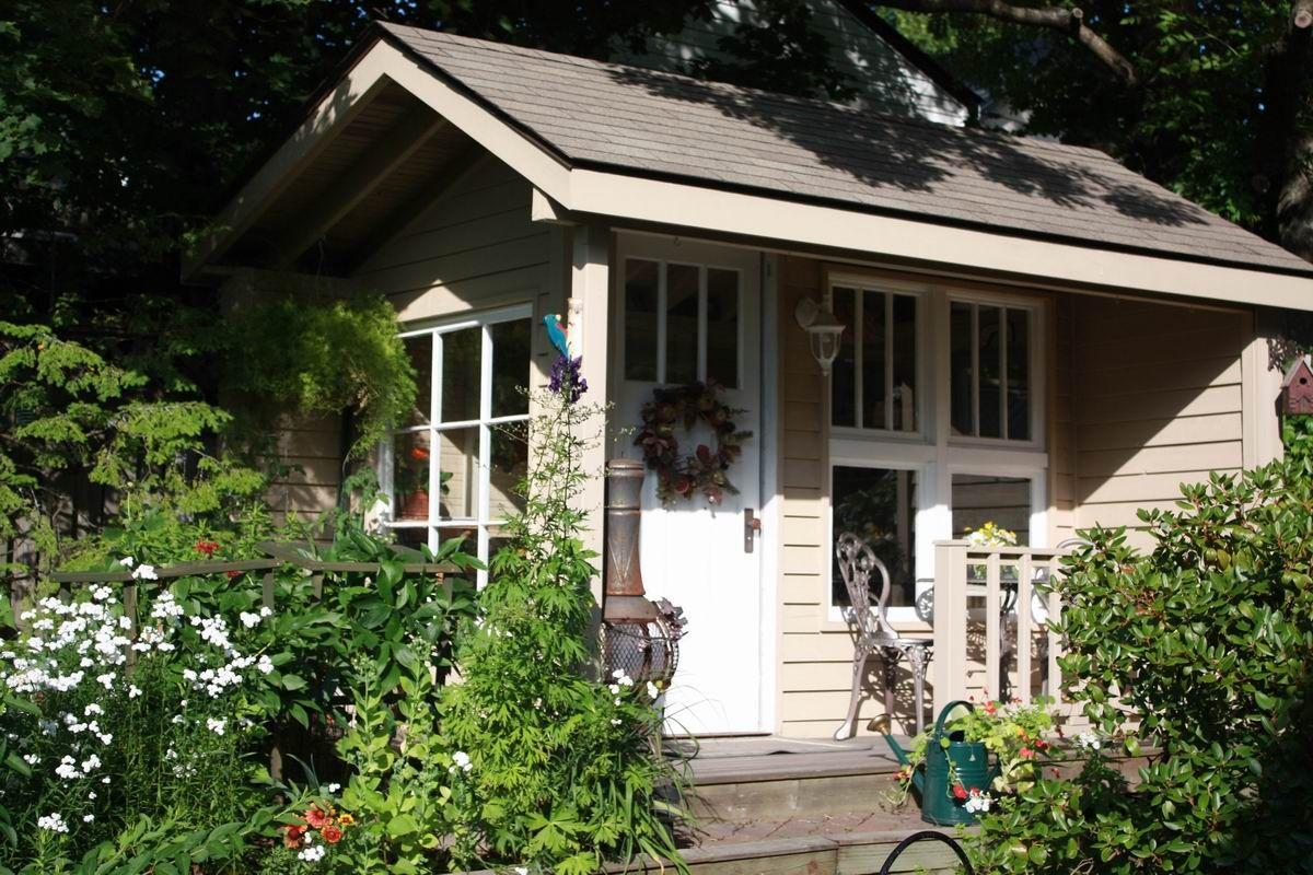 Backyard Studio Sheds | Deborah and Norman Lee posted this ...