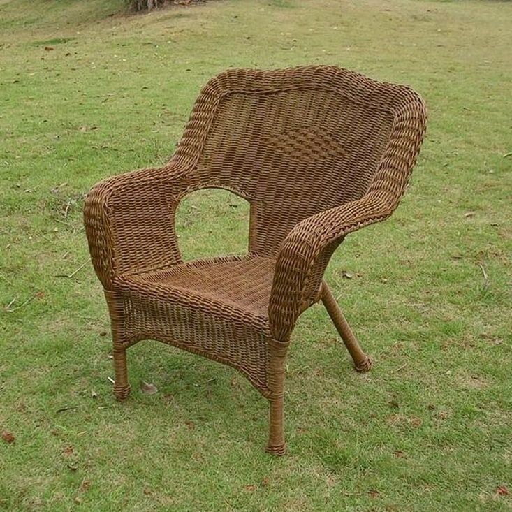 International Caravan Chelsea Resin Wicker Patio Dining Chair #resinpatiofurniture