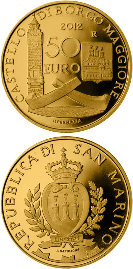 N T 50 Euro Architectural Elements Country San Marino Mintage