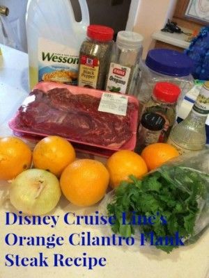 Delicious Disney Dishes – Disney Cruise Line's Orange Cilantro Flank Steak Recipe | http://www.themouseforless.com/blog_world/2016/05/disney-cruise-lines-orange-cilantro-flank-steak-recipe/