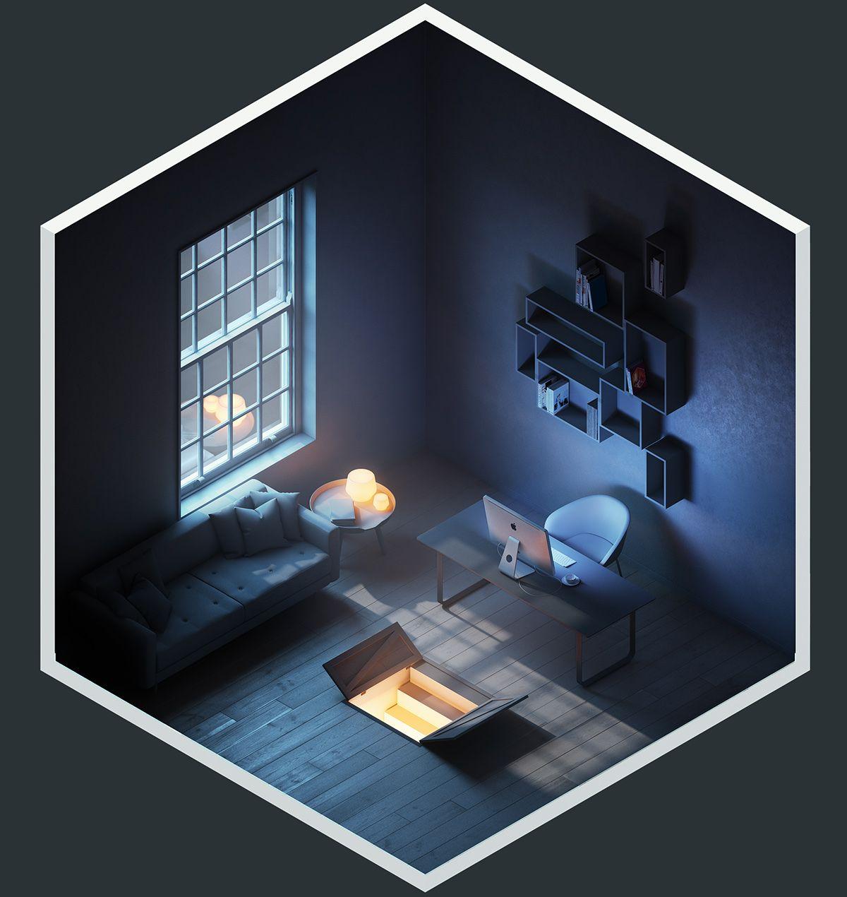 Isometric Art, Design, Room