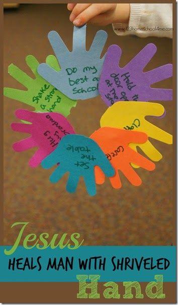 preschool bible activities jesus heals with shriveled religion 481