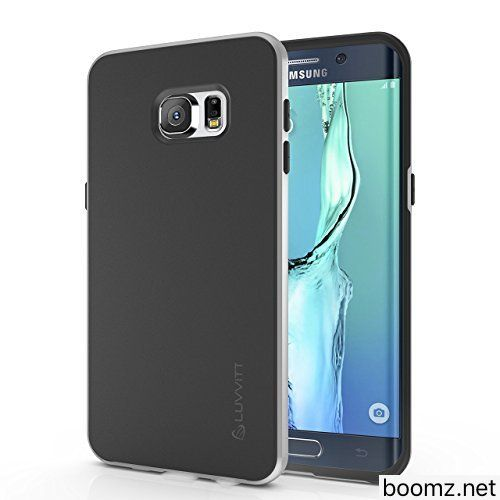 Galaxy S7 Case LUVVITT [Sleek Armor] Slim Shock Absorbing Flexible Back Cover TPU Rubber Case for Samsung Galaxy S7  Black