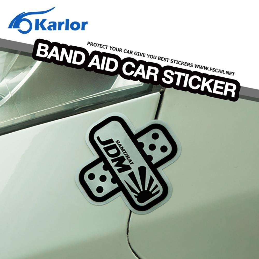 Visit To Buy Fashion Fun Band Aid Plast Scratch Off JDM Logo Car - Best car sticker logo
