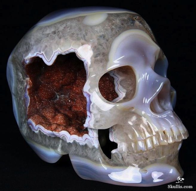 Cool Horror Gear Geodes Carved Into Skulls Horror Movie