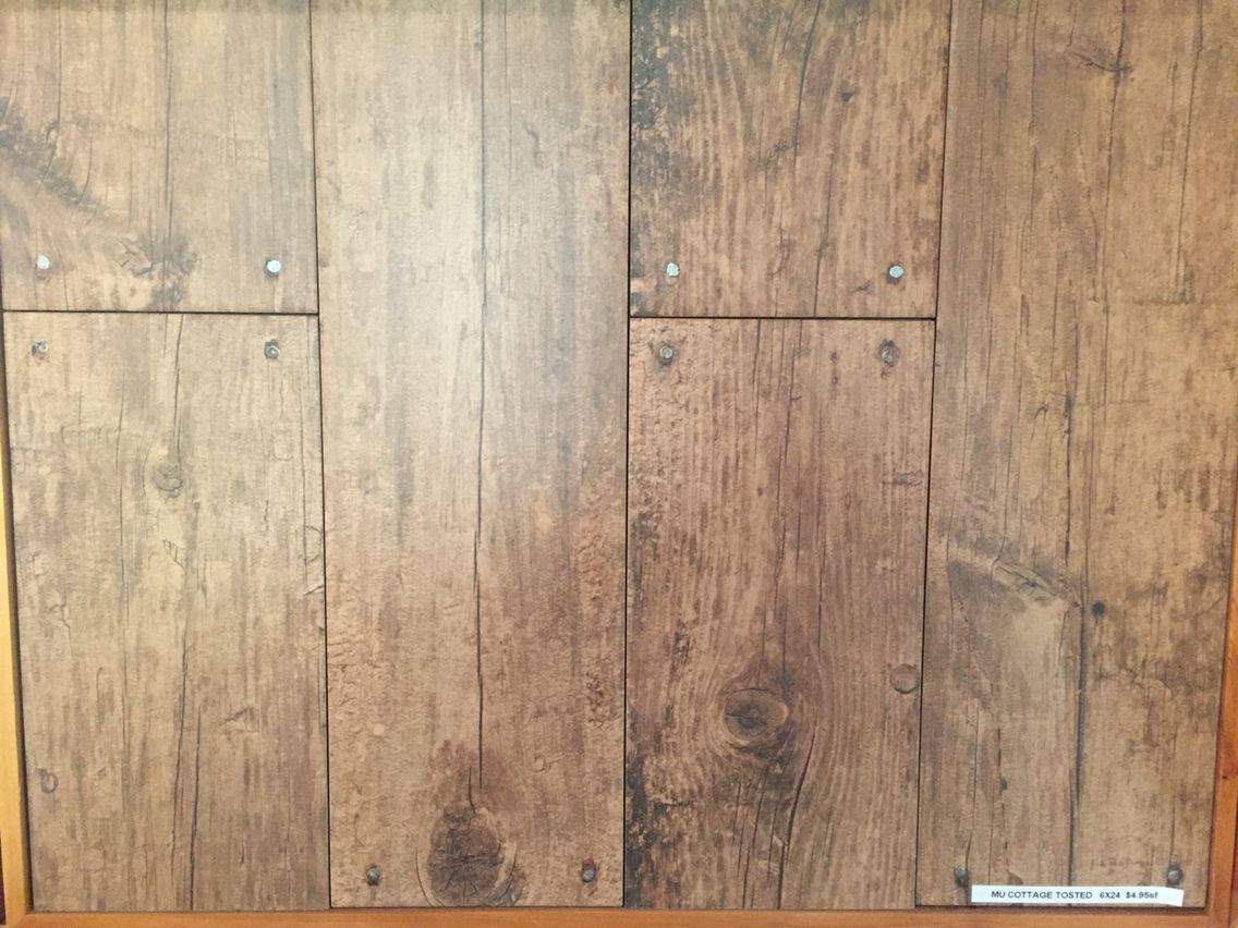 Wood Tile With Nails