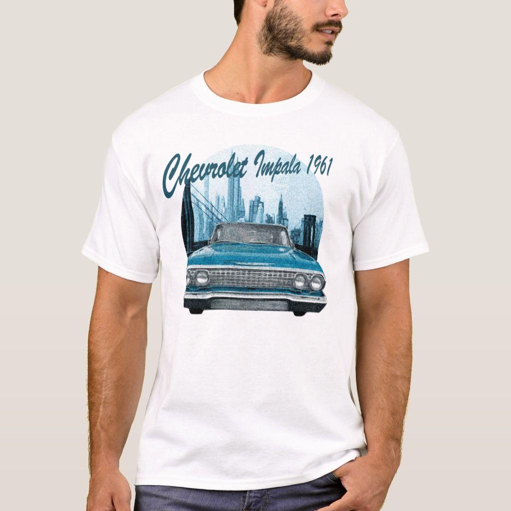 Classic Car Chevrolet Impala 1961 T-Shirt   Zazzle.com
