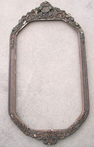 Antique Vintage Wood Picture Mirror Frame Wall Hanging | eBay | bath ...