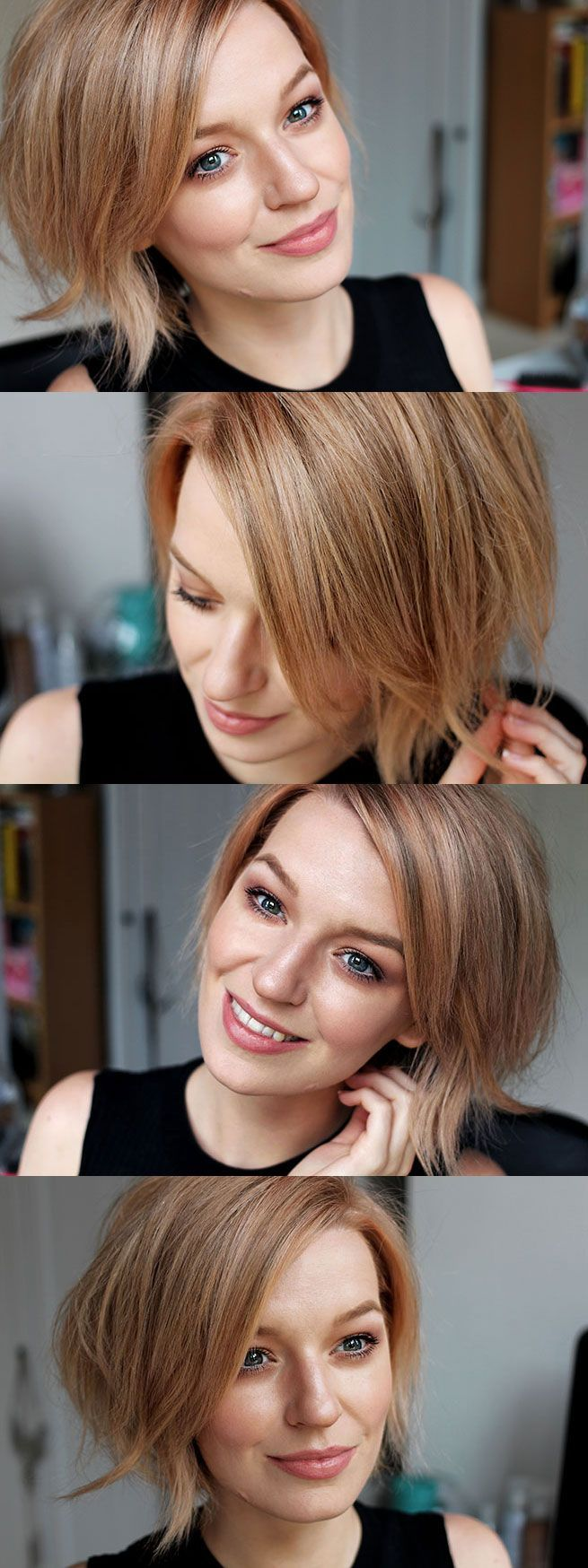 Rose gold hair beautiful colour pixie and other short cuts