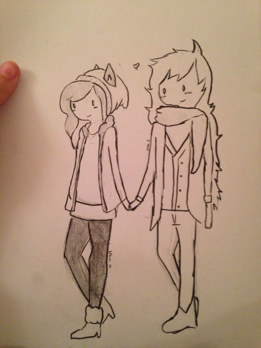 Quick Sketch Of Hipster Bumblebee Otp Adventure Time Drawing Style Drawn Nat Furman Jpg 852x1136 Hipster