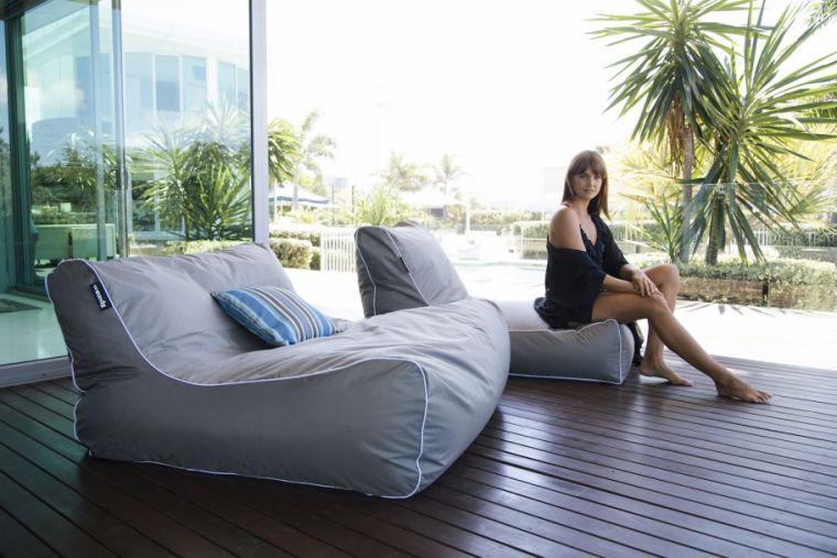 pouf pour terrasse et fauteuil
