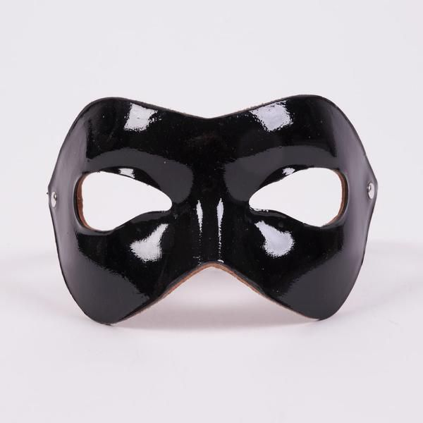 Black Leather Mask, Masquerade Mask, Simple Costume, Masked Ball, Unisex Costume, Plain Black Mask, Cosplay Costume, Real Leather Mask