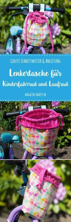 Kostenloses Schnittmuster: Lenkertasche für Kinderfahrrad oder Laufrad | Snaply-Magazin – Boda fotos