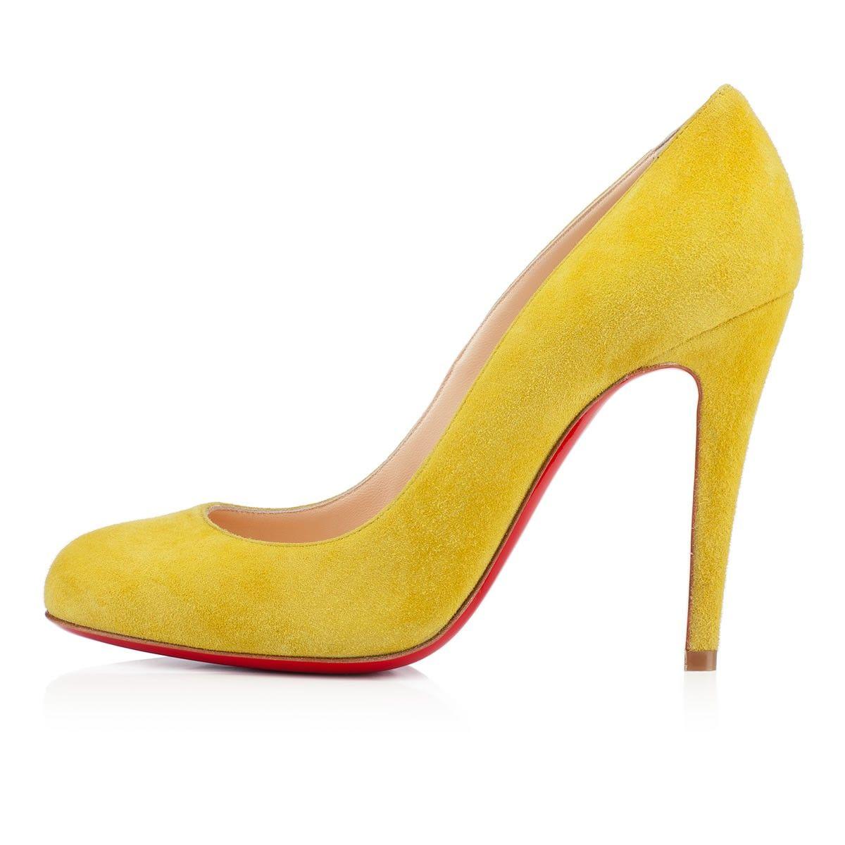 ron ron 100mm jaune de naples suede