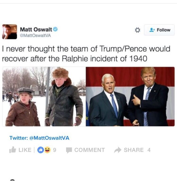 I cackled😂 Matt oswalt, Trump pence, Memes