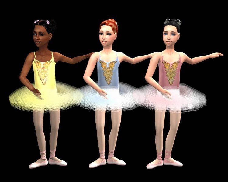 Mod The Sims Ballet Tutu For Girls Sims 4 Ballet Sims 4 Dresses Sims 4
