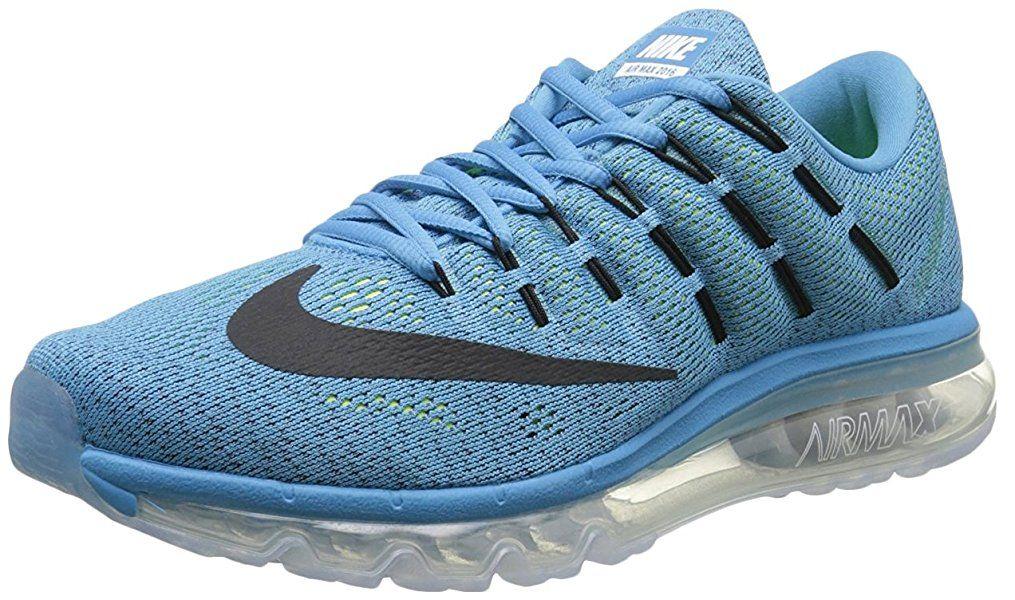Nike Air Max 2016, Chaussures de Course Homme, Bleu/Noir (Blue Lagoon