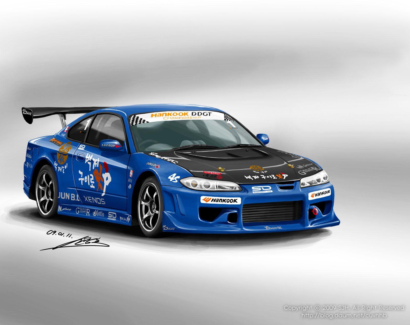 Art Drawings Technical Drawings Nissan Silvia Drift Racing Car