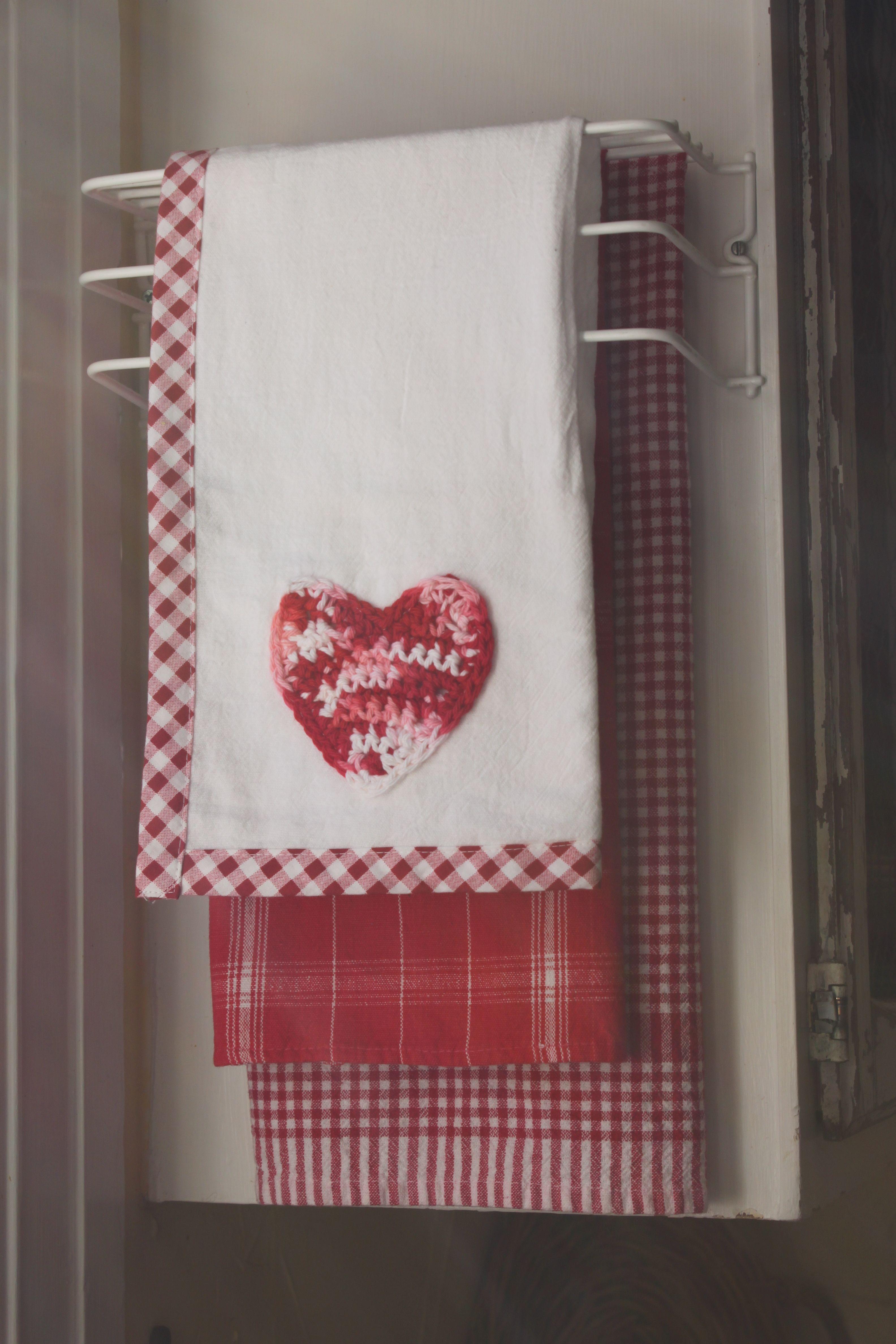 Gingham Decorative Kitchen Towels Towel Crafts Valentines