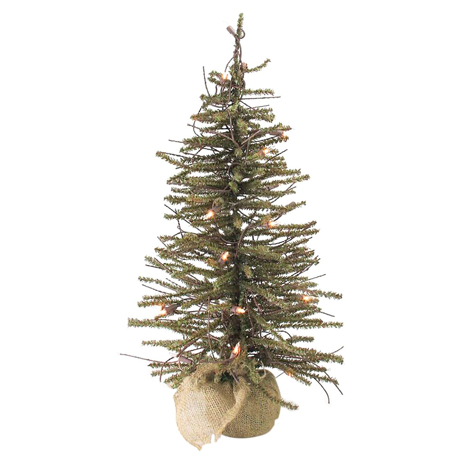 2 Ft Northlight Warsaw Twig Artificial Pre Lit Christmas Tree In