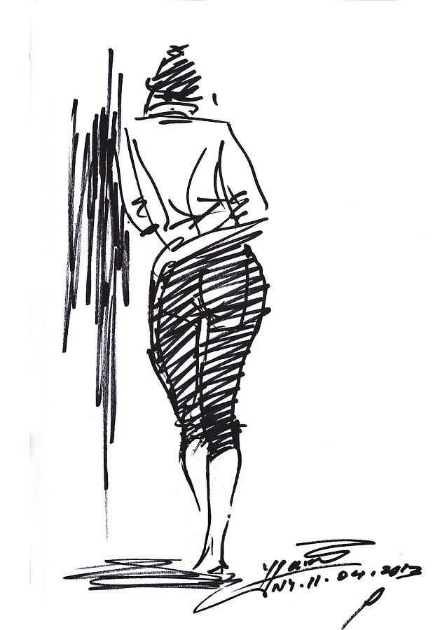 Girl Leaning Against Wall By Ylli Haruni Drawing Poses Wall Drawing Drawings