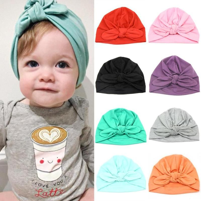 70e73f46d518df Click to Buy << Lovely baby hat cotton bowknot baby hat cap Child Kids Newborn  Baby Caps Beanie D3-26B #Affiliate