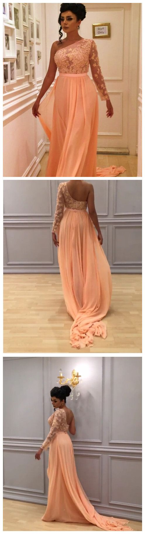New arrival prom dressmodest prom dressone shoulder prom dresses