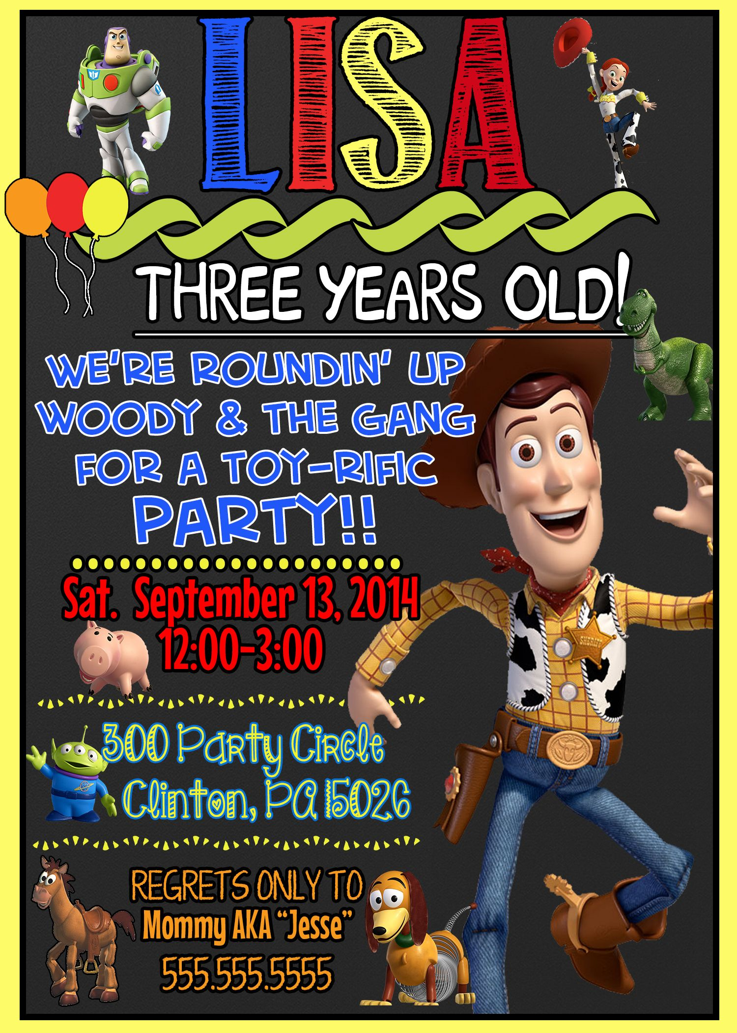 Woody Toy Story Birthday Party Invitations | Comics | Pinterest ...