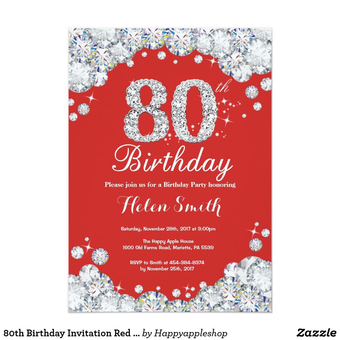 Luxury 85th Birthday Invitations Ornament - Invitations and ...